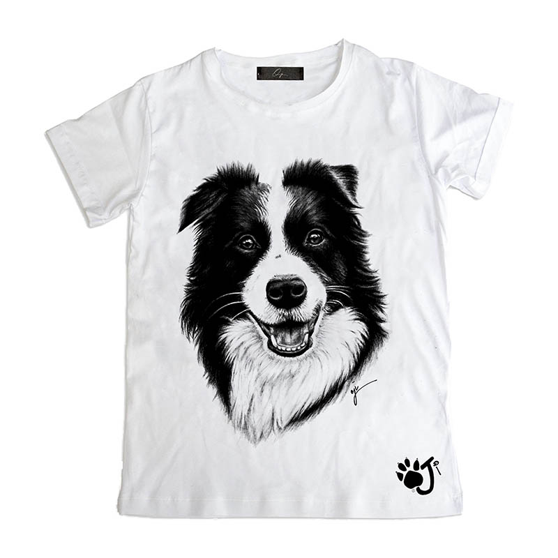 T Shirt Bambino Dco009 Border Collie