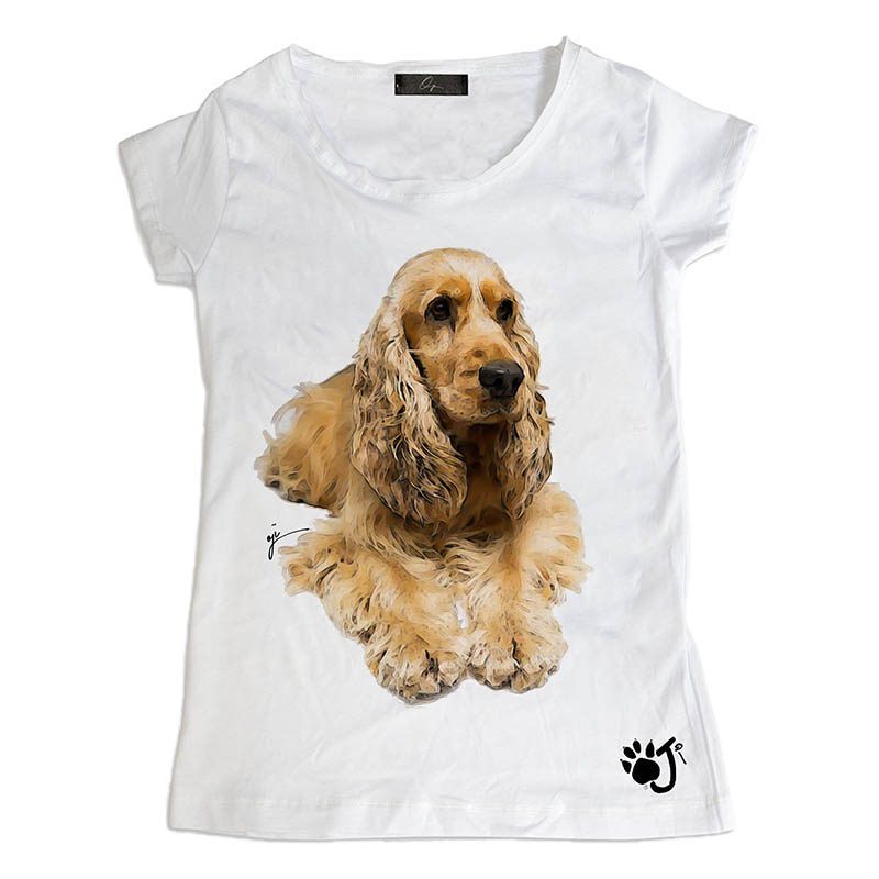 T Shirt Donna Dcd014 Cocker